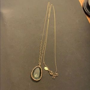 Long thin chain statement necklace